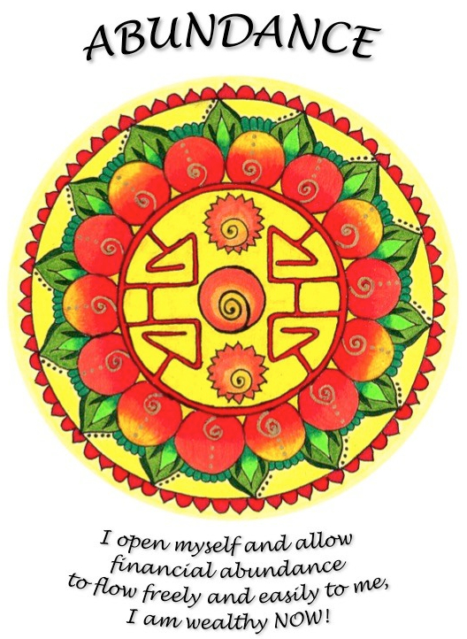Abundance mandala worded