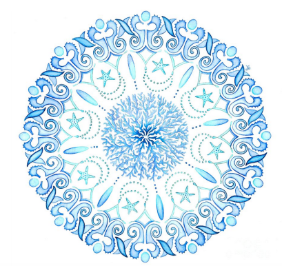 Watercolour mandala