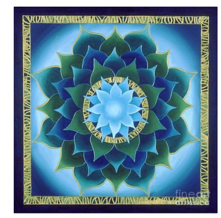 Painted mandala