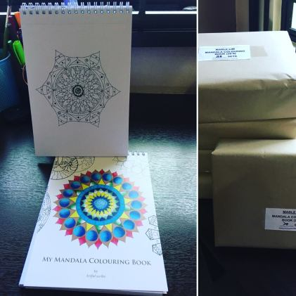 My mandala colouring books