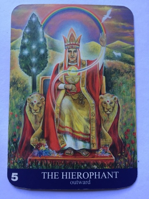The Hierophant in the Aura-Soma Tarot Deck